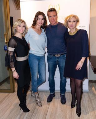 Flavia Bruni, Daria Baykalova, Jimmy Ghione e Flavia Bruni