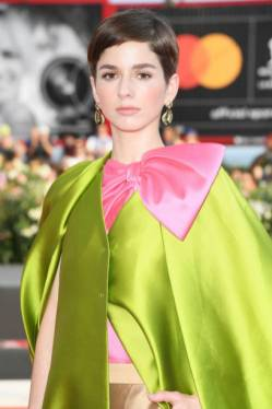"VENICE, ITALY - AUGUST 31: Mariana Di Girolamo walks the red carpet ahead of the ""Ema"" screening during the 76th Venice Film Festival at Sala Grande on August 31, 2019 in Venice, Italy. (Photo by Daniele Venturelli/WireImage)"