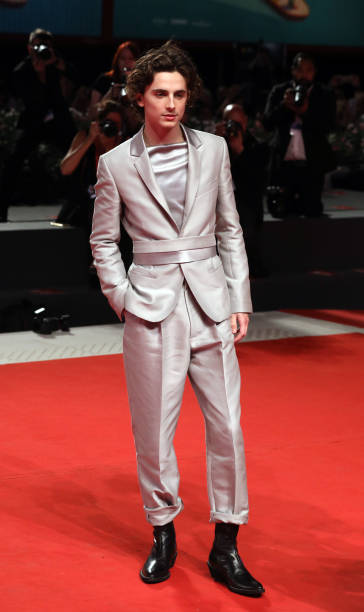 "VENICE, ITALY - SEPTEMBER 02: Timothee Chalamet walks the red carpet ahead of the ""The King"" screening during the 76th Venice Film Festival at Sala Grande on September 02, 2019 in Venice, Italy. (Photo by Elisabetta A. Villa/WireImage,)"