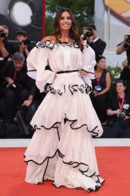 """VENICE, ITALY - SEPTEMBER 02: Elisabetta Gregoraci walks the red carpet ahead of the """"Martin Eden"""" screening during the 76th Venice Film Festival at Sala Grande on September 02, 2019 in Venice, Italy. (Photo by Stefania D'Alessandro/WireImage,)"""