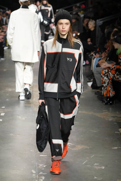 PARIS, FRANCE - JANUARY 20: A model walks the runway during the Y-3 Menswear Fall/Winter 2019-2020 show as part of Paris Fashion Week on January 20, 2019 in Paris, France. (Photo by Laurent Viteur/Getty Images)
