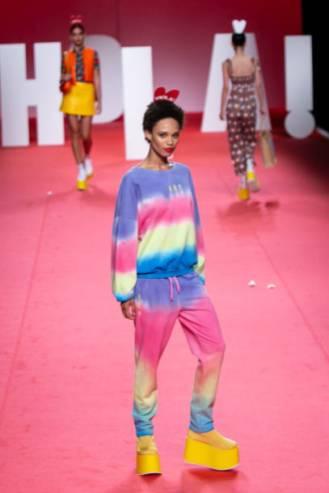 MADRID, SPAIN - JULY 08: Models walk the runway at the Agatha Ruiz De La Prada fashion show during the Mercedes Benz Fashion Week Spring/Summer 2020 at Ifema on July 08, 2019 in Madrid, Spain. (Photo by Pablo Cuadra/WireImage)
