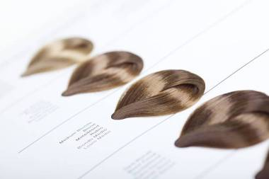 Hair Dye Color Swatches