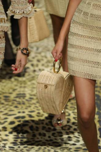 MILAN, ITALY - SEPTEMBER 22: A model, bag detail, walks the runway at the Dolce & Gabbana show during the Milan Fashion Week Spring/Summer 2020 on September 22, 2019 in Milan, Italy. (Photo by Andreas Rentz/Getty Images)