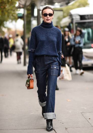 PARIS, FRANCE - SEPTEMBER 26: Mary Leest is seen wearing a Chloe outfit outside the Chloe show during Paris Fashion Week SS20 on September 26, 2019 in Paris, France. (Photo by Daniel Zuchnik/Getty Images)