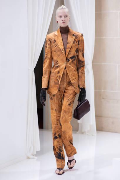 PARIS, FRANCE - SEPTEMBER 29: A model attends the Schiaparelli Presentation as part of Paris Fashion Week on September 29, 2019 in Paris, France. (Photo by Francois Durand/Getty Images)