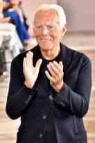 PARIS, FRANCE - JULY 02: Fashion designer Giorgio Armani walks the runway during the Giorgio Armani Prive Haute Couture Fall/Winter 2019 2020 show as part of Paris Fashion Week on July 02, 2019 in Paris, France. (Photo by Victor VIRGILE/Gamma-Rapho via Getty Images)