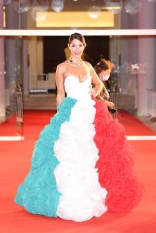 VENICE, ITALY - SEPTEMBER 05: Roberta D'orsi walks the red carpet of the Kineo Prize at the 77th Venice Film Festival on September 05, 2020 in Venice, Italy. (Photo by Daniele Venturelli/WireImage,)