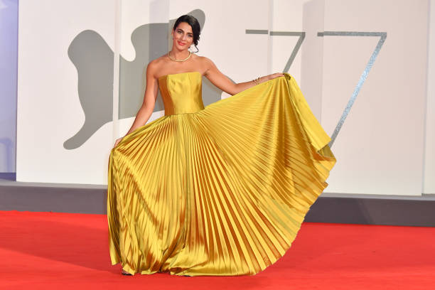 VENICE, ITALY - SEPTEMBER 05: Rossella Romano walks the red carpet of the Kineo Prize at the 77th Venice Film Festival on September 05, 2020 in Venice, Italy. (Photo by Stephane Cardinale - Corbis/Corbis via Getty Images)