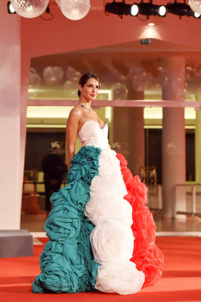 VENICE, ITALY - SEPTEMBER 05: Roberta D'orsi walks the red carpet of the Kineo Prize at the 77th Venice Film Festival on September 05, 2020 in Venice, Italy. (Photo by Stefania D'Alessandro/WireImage,)