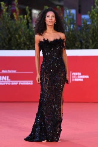 "ROME, ITALY - OCTOBER 19: Sailys Del Mar attends the red carpet of the movie ""Fortuna"" during the 15th Rome Film Festival on October 19, 2020 in Rome, Italy. (Photo by Daniele Venturelli/WireImage,)"