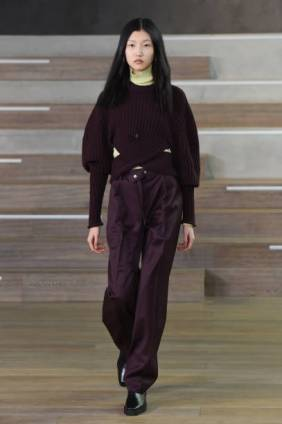 MILAN, ITALY - FEBRUARY 17: In this shot released on February the 24th, a model walks the runway at the Simona Marziali - MRZ Fashion Show during the Milan Fashion Week Fall/Winter 2021/2022 on February 17, 2021 in Milan, Italy. (Photo by Stefania M. D'Alessandro/Getty Images)