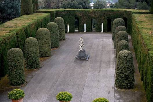 """Picture of the gardens of Pope's summer residence of Castel Gandolfo, south of Rome, taken on March 22, 2014 in CastelGandolfo. From March 1st, the gardens surrounding the papal summer residence are open to the public. Located south of Rome in the Alban hills, the property includes the extensive Barberini gardens, the remains of a Roman villa and a 62 acre farm, as well as the ancient papal palace. A statement from the director of the Vatican Museums says it was Pope Francis himself who decided to make accessible to all the gardens of the Pontifical Villas. A guided tour of the gardens, in Italian or English, will be available to individuals or groups through an online booking system. AFP PHOTO / VINCENZO PINTO = RESTRICTED TO EDITORIAL USE - MANDATORY CREDIT """"AFP PHOTO/VINCENZO PINTO"""" - NO MARKETING NO ADVERTISING CAMPAIGNS - DISTRIBUTED AS A SERVICE TO CLIENTS = (Photo credit should read VINCENZO PINTO/AFP via Getty Images)"""
