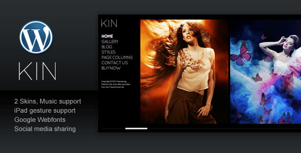 kin minimalist photography wordpress template