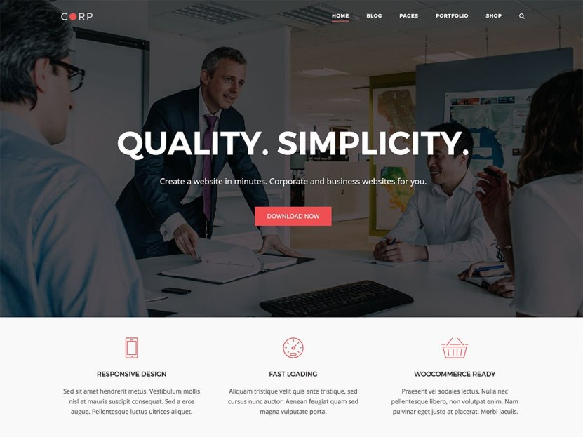 Top 10 Free Responsive Business WordPress Themes 3