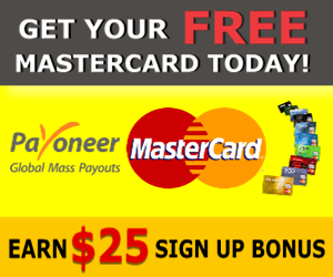 Sign Up for Payoneer MasterCard