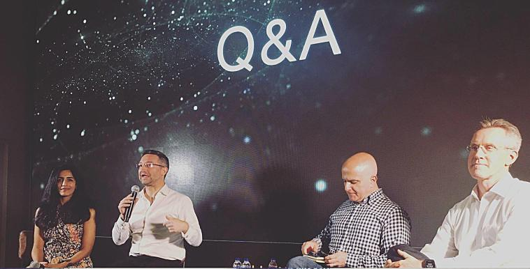 ADDO AI CEO Ayesha Khanna (left) appears on a panel hosted by SG Innovate. (Photo credit: ADDO AI)