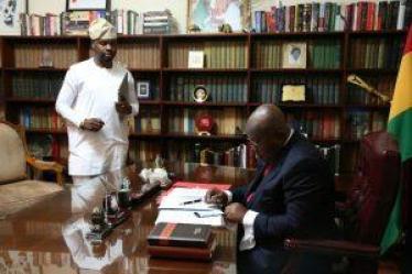 Adebola Williams With President Nana Akufo-Addo