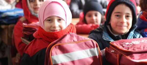 Nagham, 7, is thrilled to be in school for the first time in her life. Credit: © UNICEF/UN052195/Al-Issa