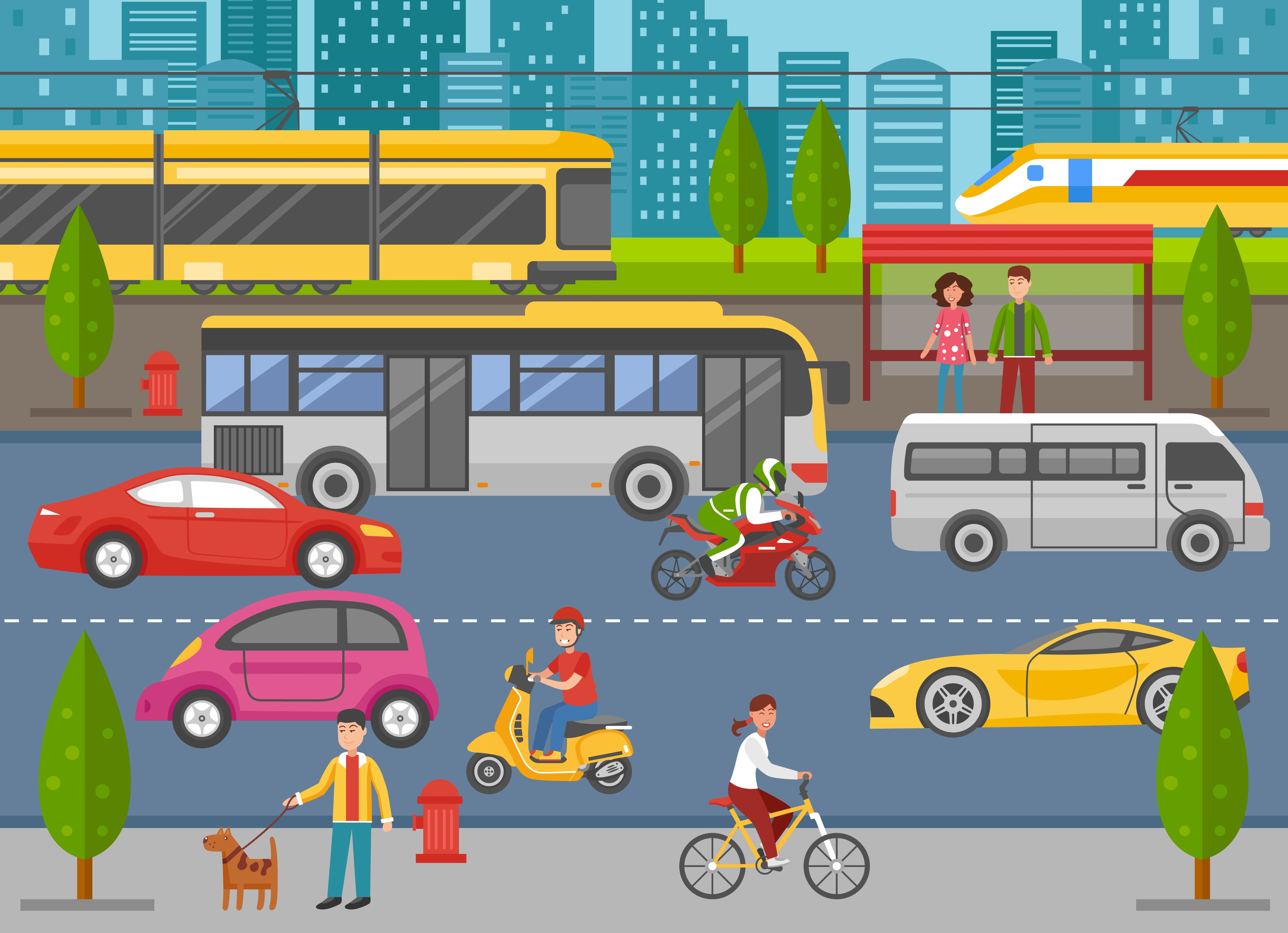 Smart City Dashboard Improving Transportation And