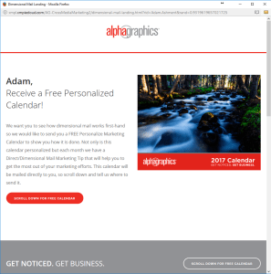 Personalized Landing Page