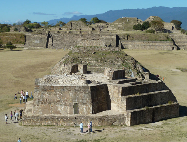 The Monte Albán observatory in Oaxaca, Mexico. Image: Rob Young, via Wikimedia Commons.