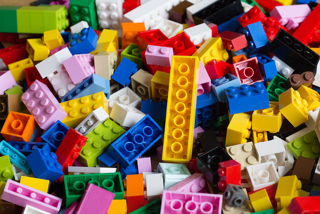 A pile of Lego bricks