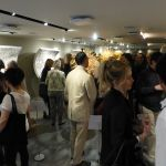 The gallery was crowded with math enthusiasts, taking in the exciting new exhibit.