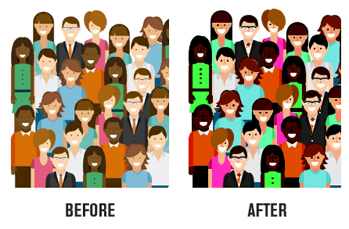 edit free vector images before and after