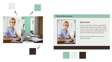 create e-learning template PowerPoint