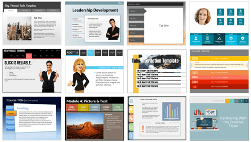free PowerPoint templates tabs interaction