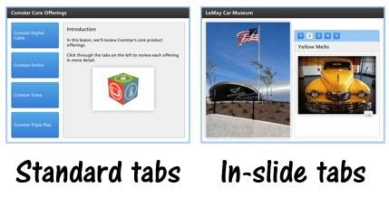 tabs interaction types