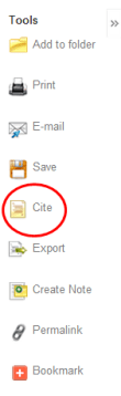 ebsco cite