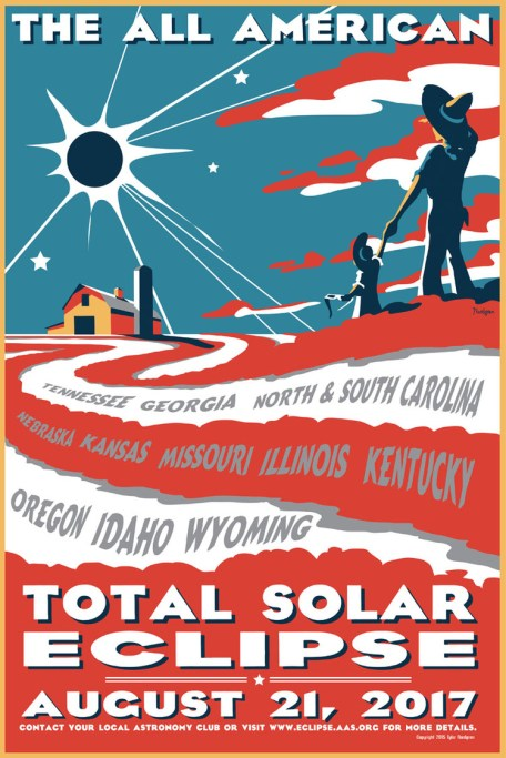 poster for the Great American Solar Eclipse