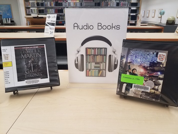 Photo of audiobook collection