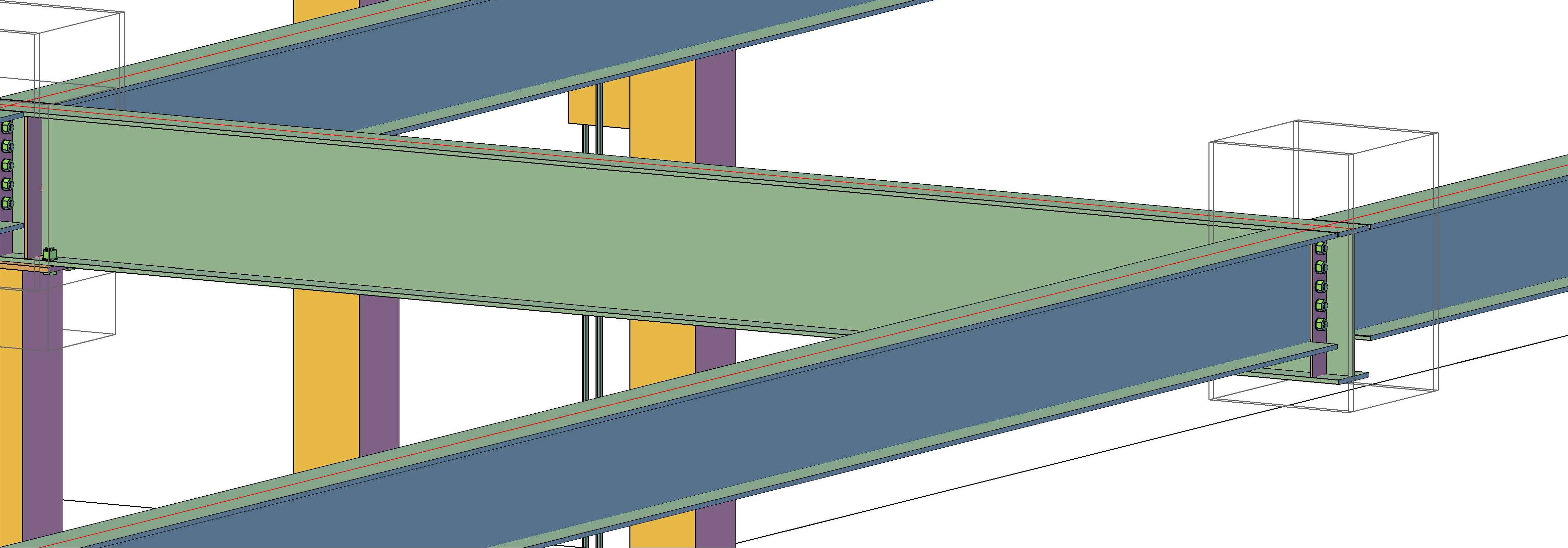 Autodesk Advance Steel detailing software model of solar canopy