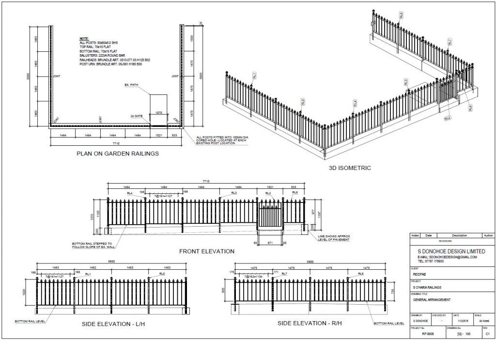 Advance Steel railings