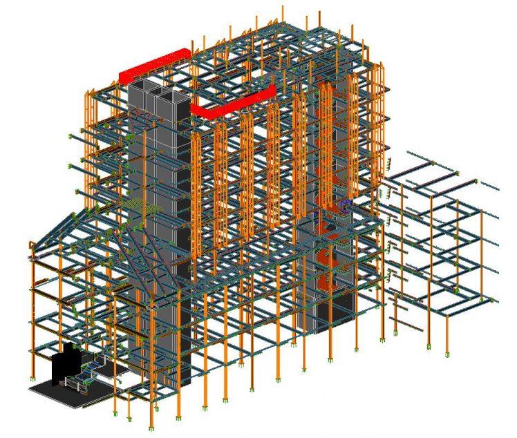 3D Autodesk Advance Steel model of The Lucas