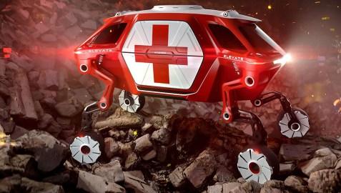 futuristic walking car concept image
