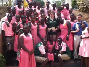 Kate with Professor Deets and her Entrepreneurship class in Ghana