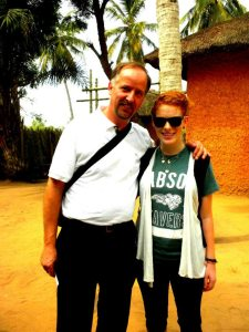 Andrea with Dennis Hanno in Ghana