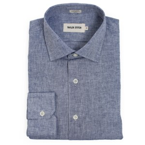 Figure 3 - Indigo Cotton Linen Hyde Shirt