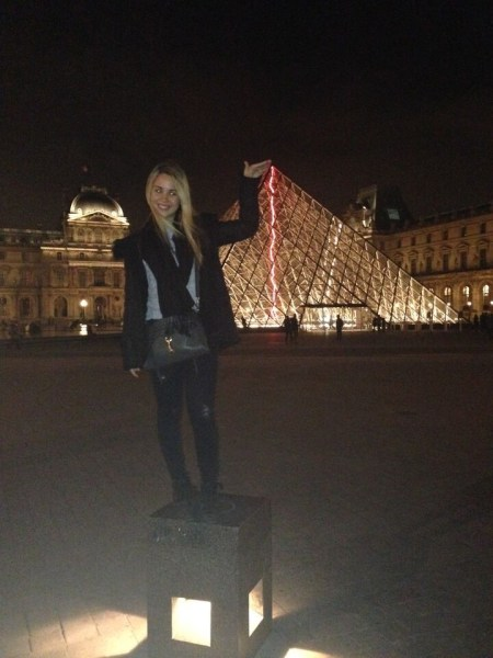 Student at the Louvre in France