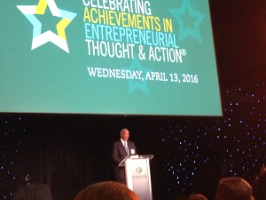 Eric G. Johnson '72, P'08 speaking at Celebrating Achievements in Entrepreneurial Thought and Action