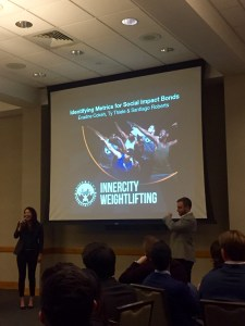 Students deliver their Financing Sustainability pitches for Prof. Richard Bliss' class at the BEEC