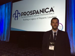 Bernardo Heiremans, MBA'17, at the Prospanica Conference in Houston, TX.