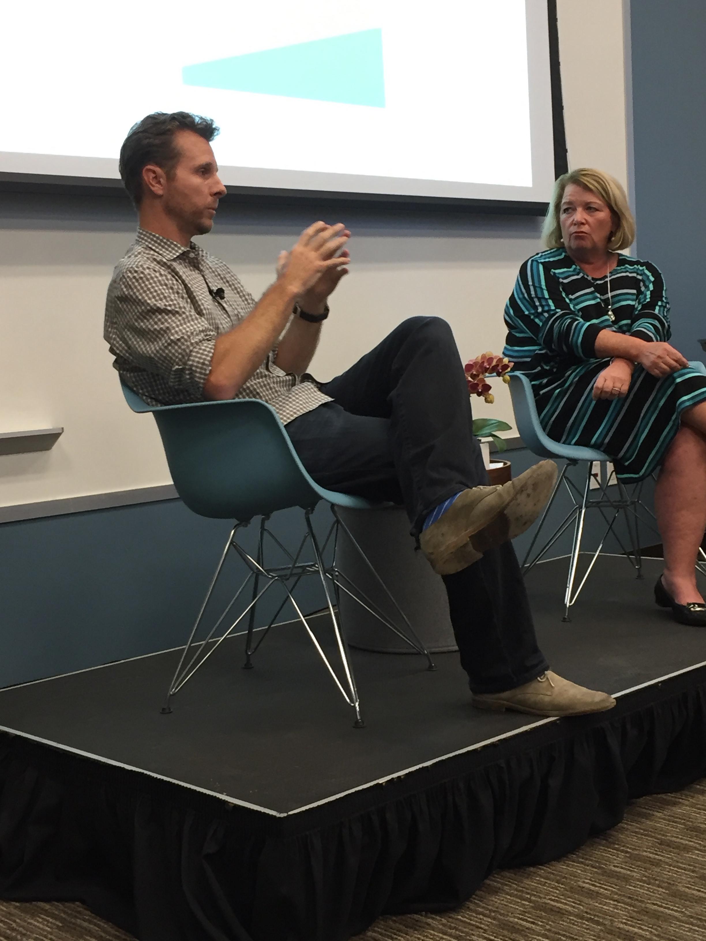 Jamie Siminoff and Carol Hacker at Babson San Francisco
