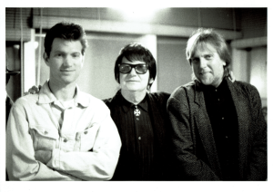 Tom Lapinski with Roy Orbison and Chris Isaak