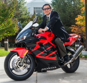 President Wu on a Motorcycle