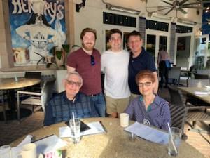 Herbert Rubin with his family
